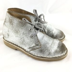 c294a8f4 Chukka boots ankle booties silver metallic shoes